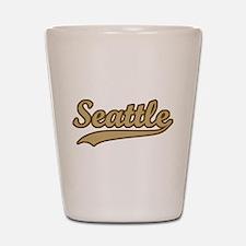 retro Seattle Shot Glass