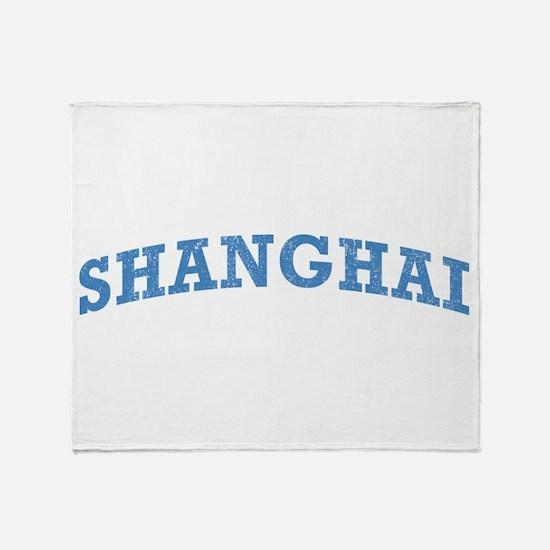 Vintage Shanghai Throw Blanket