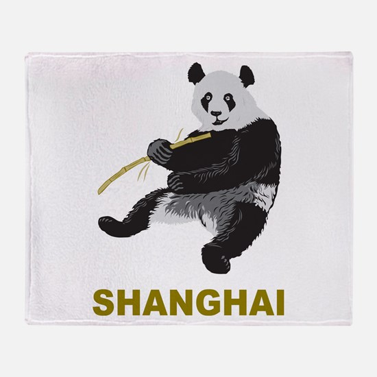 Shanghai Panda Throw Blanket