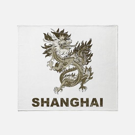 Vintage Shanghai Dragon Throw Blanket