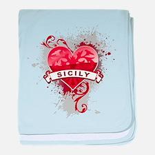 Heart Sicily baby blanket