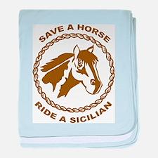 Ride A Sicilian baby blanket