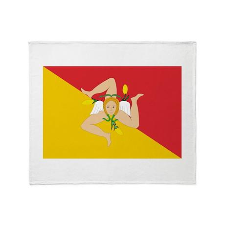 Sicily Flag Throw Blanket