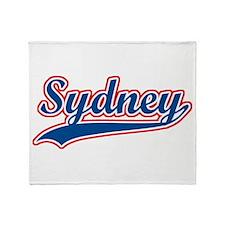 Retro Sydney Throw Blanket