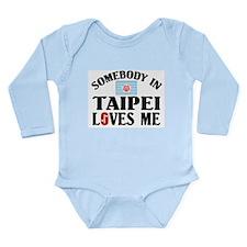 Somebody In Taipei Long Sleeve Infant Bodysuit