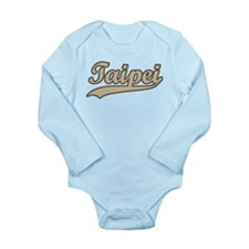 Retro Taipei Long Sleeve Infant Bodysuit