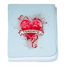 Heart Toronto baby blanket