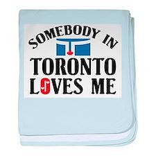Somebody In Toronto baby blanket