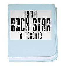Rock Star In Toronto baby blanket