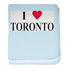 I Love Toronto baby blanket