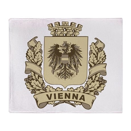 Stylized Vienna Crest Throw Blanket