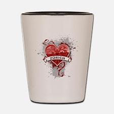 Heart Zurich Shot Glass