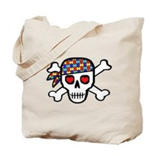 Rockin' Autism Skull Tote Bag