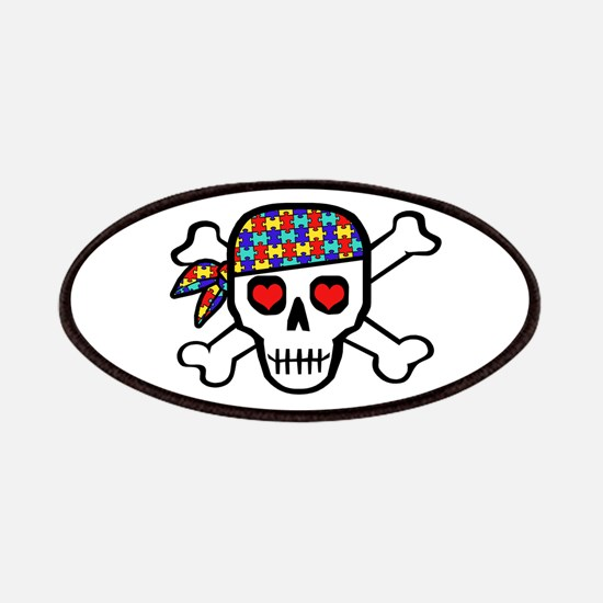 Rockin' Autism Skull Patches