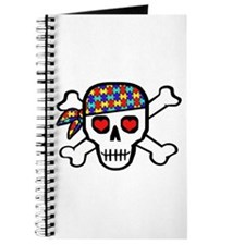 Rockin' Autism Skull Journal