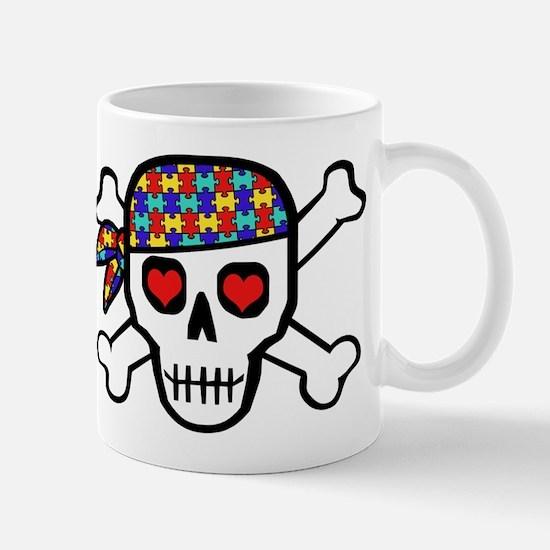 Rockin' Autism Skull Mug