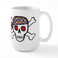 Rockin' Autism Skull Large Mug