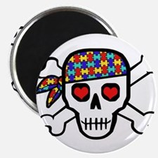 Rockin' Autism Skull Magnet