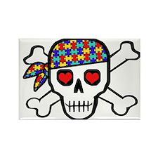 Rockin' Autism Skull Rectangle Magnet (10 pack)