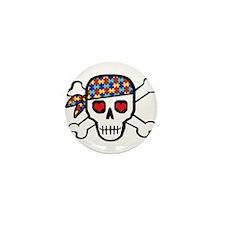 Rockin' Autism Skull Mini Button