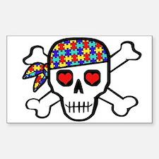 Rockin' Autism Skull Decal