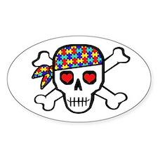 Rockin' Autism Skull Bumper Stickers