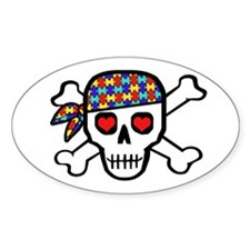 Rockin' Autism Skull Decal