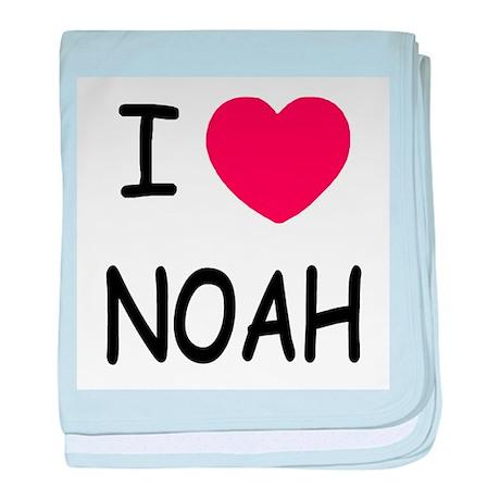 I heart noah baby blanket