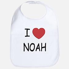 I heart noah Bib