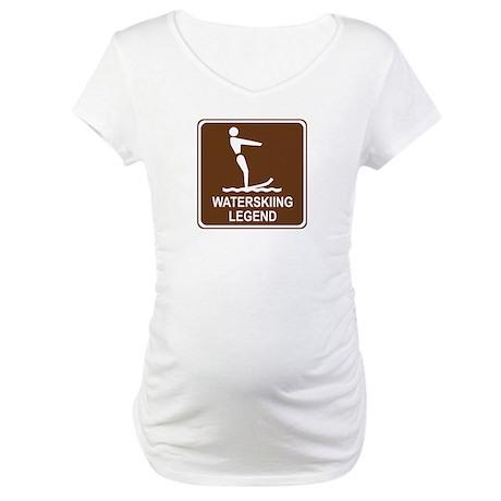 Waterskiing Legend Maternity T-Shirt