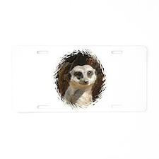 Cool Meerkat Aluminum License Plate