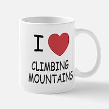 I heart climbing mountains Mug