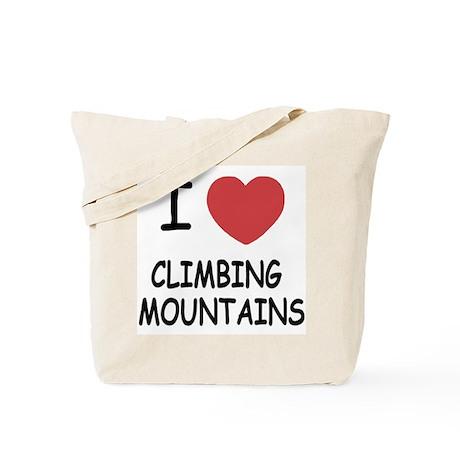 I heart climbing mountains Tote Bag