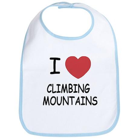 I heart climbing mountains Bib