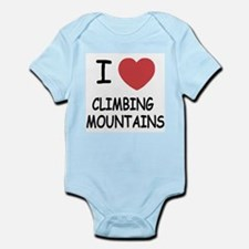 I heart climbing mountains Infant Bodysuit