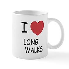 I heart long walks Mug