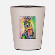 Abstract nart, nude, Shot Glass