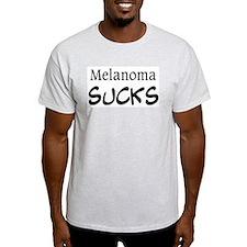 Melanoma Sucks Ash Grey T-Shirt