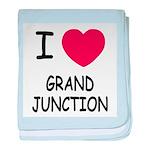 I heart grand junction baby blanket