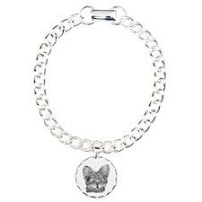 Yorkie Dog Charm Bracelet, One Charm