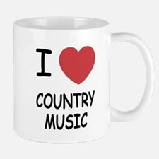 I heart country music Mug