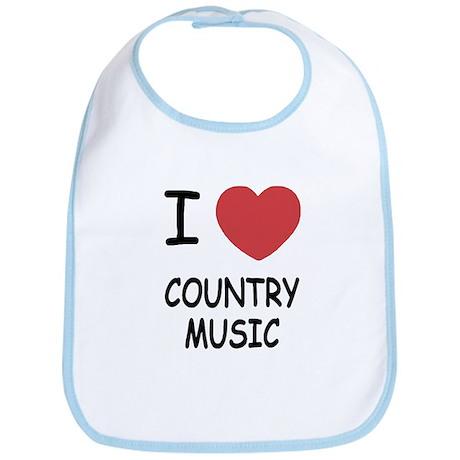 I heart country music Bib