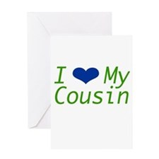 I Heart My Cousin Greeting Card