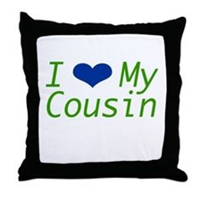 I Heart My Cousin Throw Pillow