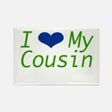 I Heart My Cousin Rectangle Magnet