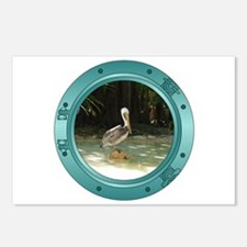 Pelican Porthole Postcards (Package of 8)