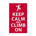 Keep Calm and Climb On Sticker (Rectangle)