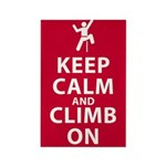 Keep Calm and Climb On Rectangle Magnet