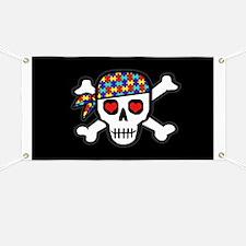Rockin' Autism Skull (Blk) Banner