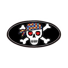 Rockin' Autism Skull (Blk) Patches